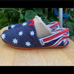 TOM'S Australia Australian Slip On Shoes Sz 8.5 39